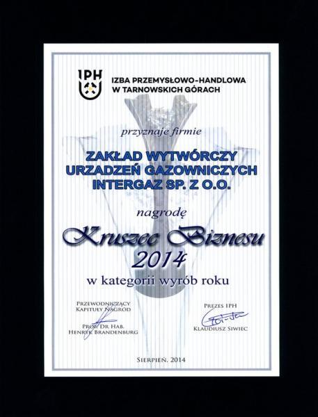 Kruszec Biznesu 2014 - Dyplom